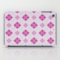 knit iPad Cases featuring knit argyle by colli1.3designs