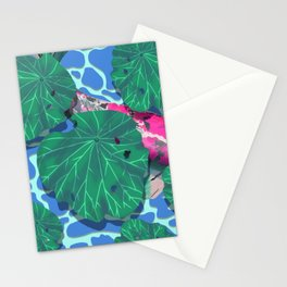 Pink Koi under Lilly Pads Stationery Cards