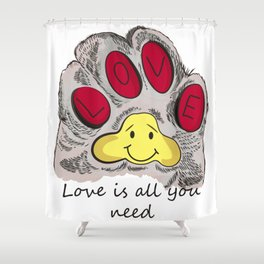 Cat's paw Shower Curtain