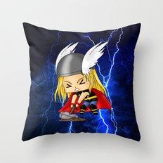 Chibi Thor Throw Pillow