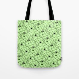 Cryptid Pattern: Black on Green Tote Bag