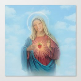 Our Lady Mary Berry Canvas Print