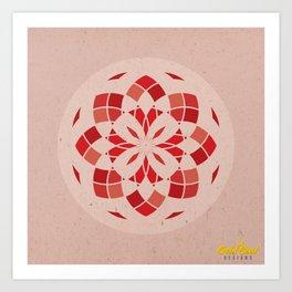 Root Chakra Mandala Art Print