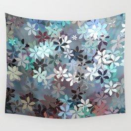 Blue Moon Flower Garden Wall Tapestry