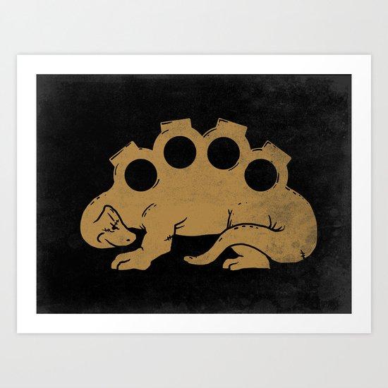 Brassknuckleosaurus Art Print