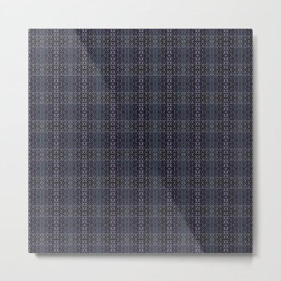 Backsplash Square Glass Spirals Metal Print