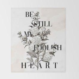Foolish Heart Throw Blanket