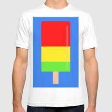 Popsicle fun art MEDIUM White Mens Fitted Tee