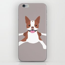red boston terrier iPhone Skin