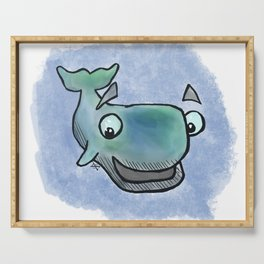 Whale Watercolor Serving Tray