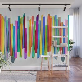 Colorful Stripes 1 Wall Mural