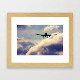 Wake turbulence Framed Art Print