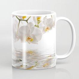White Orchids Coffee Mug