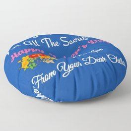 Thank You Mom For All The Sacrifices!. Mother's day Design Floor Pillow