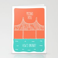 """oakland Stationery Cards featuring """"How's Oakland"""" Missing You Card by Michelle Rial"""