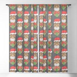 Poinsettia Tiki Sheer Curtain