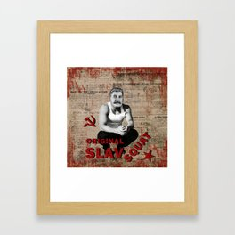 Original Slav Squat - Stalin Framed Art Print