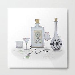 Halloween Cocktails II Metal Print