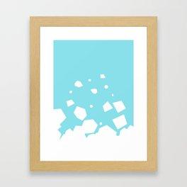 Rockery on Blue Framed Art Print