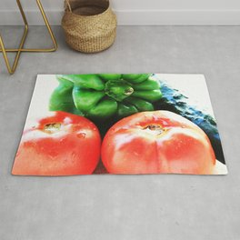 Colors of vegetables Rug