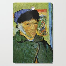 Self Portrait with Bandaged Ear by Vincent van Gogh Cutting Board