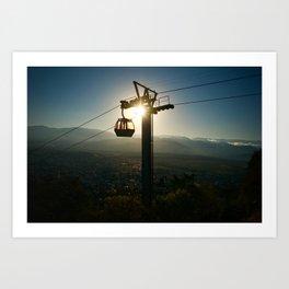 Empty cable car Art Print