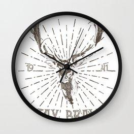 Dauntless Deer Wall Clock