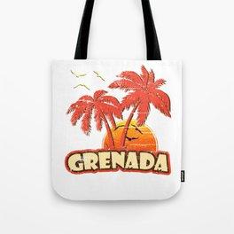 Grenada Vintage Sunset Tote Bag