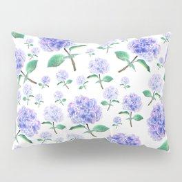 purple blue hydrangea pattern Pillow Sham