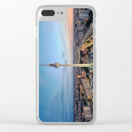 Berlin TV Tower Clear iPhone Case