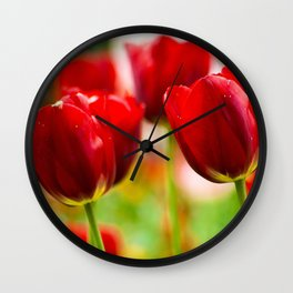 Bold Tulips Wall Clock