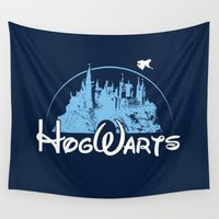 hogwarts Wall Tapestries featuring HOGWARTS by Bilqis