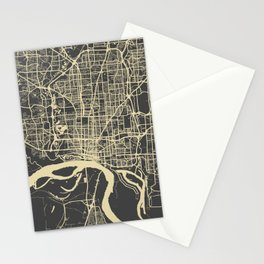 Memphis map yellow Stationery Cards