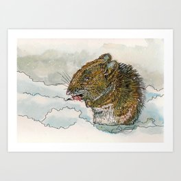 Winter Mouse Art Print