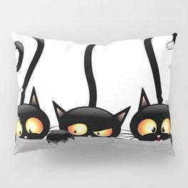 Three Naughty Playful Kitties Pillow Sham