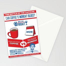 Coffee VS Monday Stationery Cards