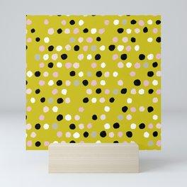 Scatter Dots in Mustard Mix Mini Art Print