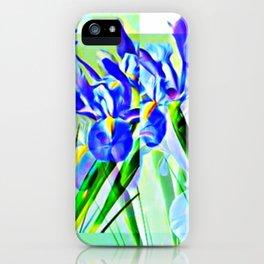 Pop Art Irises from My Garden iPhone Case