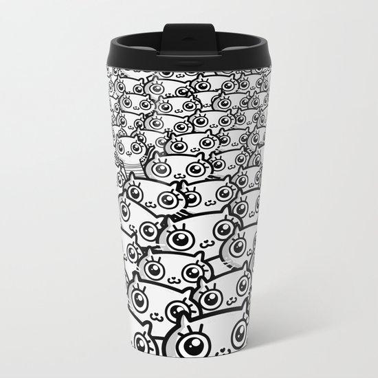 Crazy Cat Lady Dreams (in b/w) Metal Travel Mug