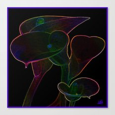 Glowing Lilies Canvas Print