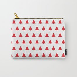 Red Christmas Tree Seamless Pattern Carry-All Pouch