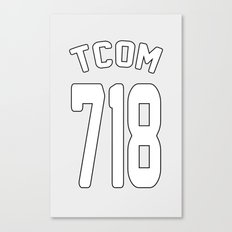 TCOM 718 AREA CODE JERSEY Canvas Print