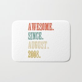 Awesome Since August 2008 10 Year Old Vintage Gift Bath Mat