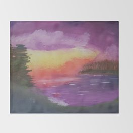 Dramatic Twilight Throw Blanket