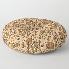 Squirrel eating peanuts Floor Pillow