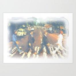 John, Paul, George, Ringo Art Print