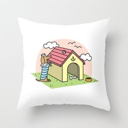 Sailor Dachshund Throw Pillow