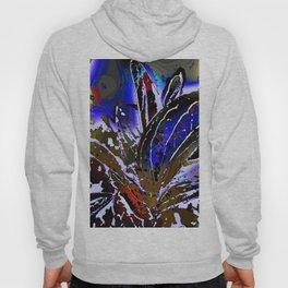 Vivid Foliage in blue Hoody