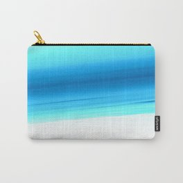 Turquoise Aqua Ombre Carry-All Pouch