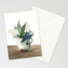 Unexpected Terrarium Ladybug Stationery Cards
